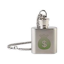 Money Bag Flask Necklace