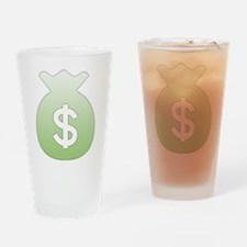 Money Bag Drinking Glass
