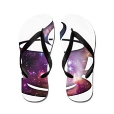 Cosmic Coffee Flip Flops