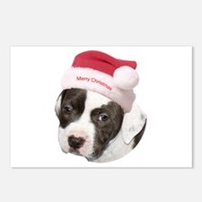 Christmas American Pit Bull Terrier Postcards (Pac