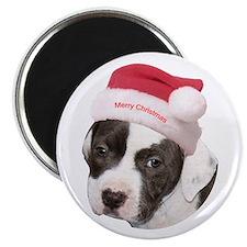 """Christmas American Pit Bull Terrier 2.25"""" Magnet ("""
