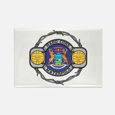 Michigan Water Polo Rectangle Magnet