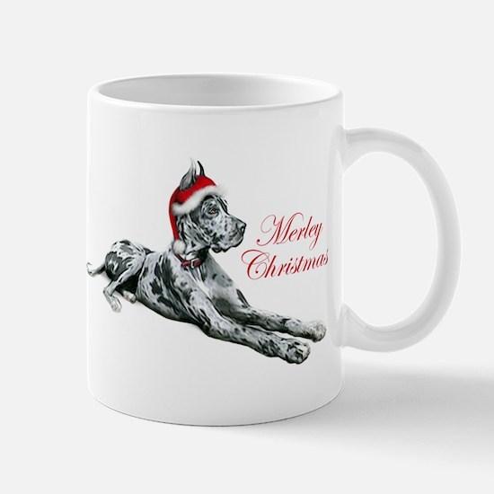 Great Dane Merley Christmas Mug