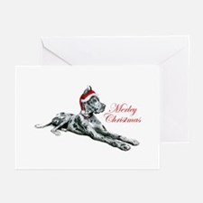 Great Dane Merley Christmas Greeting Cards (Pk of