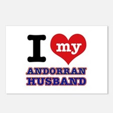 I love my Andorran Husband Postcards (Package of 8
