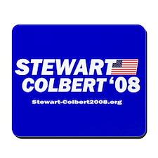 "Stewart/Colbert ""Classic Blue"" Mousepad"