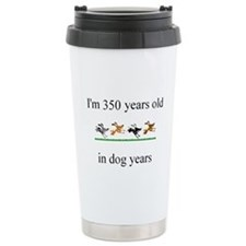 50th birthday dog years.bmp Travel Mug