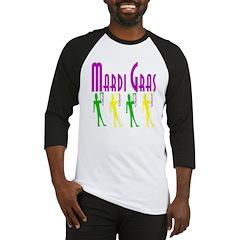 MArdi Gras Men With Beads Baseball Jersey