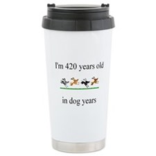 60th birthday dog years.bmp Travel Mug