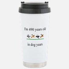 70th birthday dog years.bmp Travel Mug
