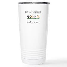 80th birthday dog years.bmp Travel Mug
