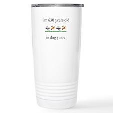 90th birthday dog years.bmp Travel Mug