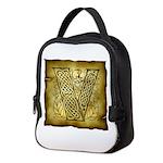 Celtic letter V Neoprene Lunch Bag