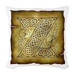 Celtic Letter Z Woven Throw Pillow