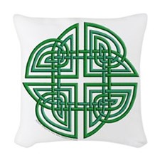 Celtic Four Leaf Clover Woven Throw Pillow
