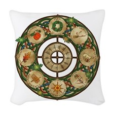 Celtic Wheel of the Year Woven Throw Pillow