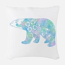 Celtic Polar Bear Woven Throw Pillow