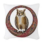 Celtic Owl Woven Throw Pillow