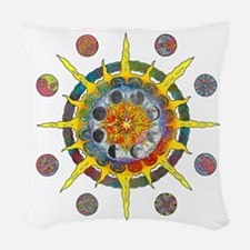 Celtic Stargate Woven Throw Pillow