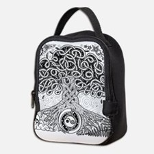 Celtic Tree of Life Ink Neoprene Lunch Bag