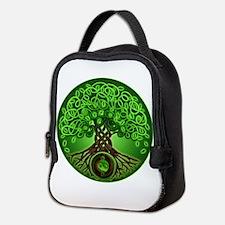Circle Celtic Tree of Life Neoprene Lunch Bag