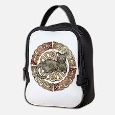 Celtic Cat Neoprene Lunch Bag