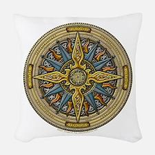 Celtic Compass Woven Throw Pillow