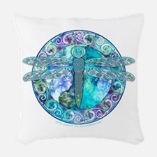 Cool Celtic Dragonfly Woven Throw Pillow