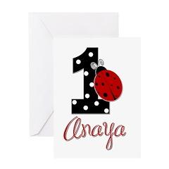 1 Ladybug ANAYA - Custom Greeting Card