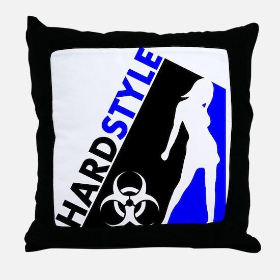 Hardstyle Dancer and Biohazard design Throw Pillow