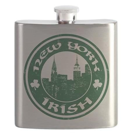 New York Irish American Flask
