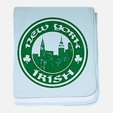 New York Irish American baby blanket