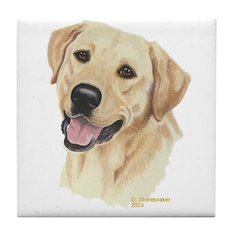 Yellow Labrador Decorative Tile