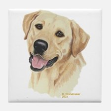 Yellow Labrador Decorative Tile