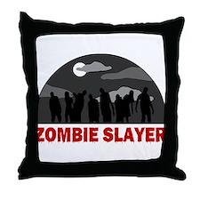 Zombie Slayer design Throw Pillow