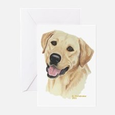 Yellow Labrador Greeting Cards (6)