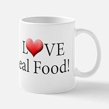 I Love Real Food Logo Mug