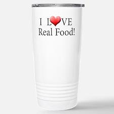 I Love Real Food Logo Travel Mug