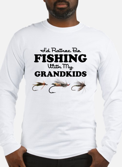 Rather Be Fishing Grandkids Long Sleeve T-Shirt