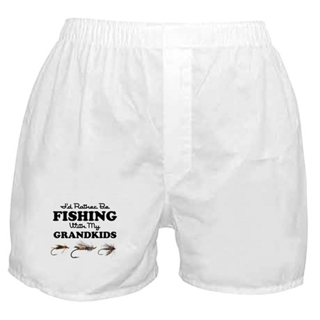 Rather Be Fishing Grandkids Boxer Shorts
