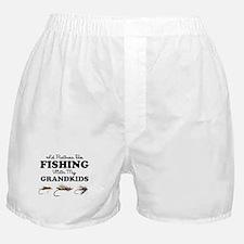 Rather Be Fishing Grandkids Boxer Shorts