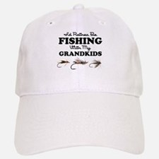 Rather Be Fishing Grandkids Baseball Baseball Cap