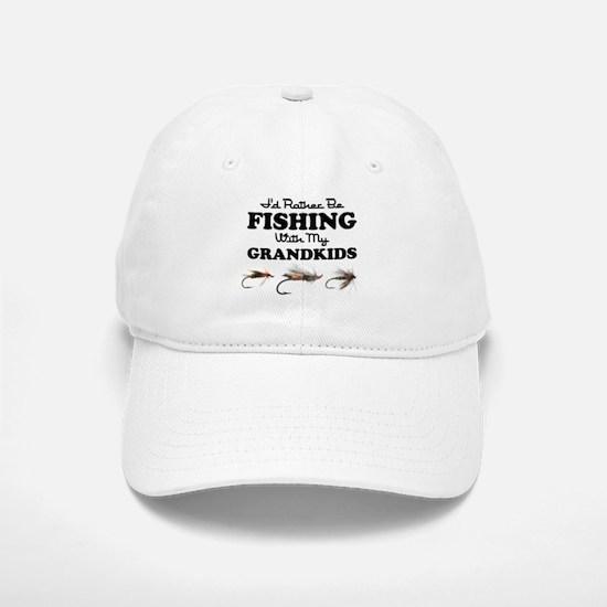 Rather Be Fishing Grandkids Baseball Baseball Cap