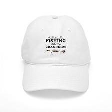 Rather Be Fishing Grandkids Baseball Cap