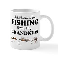 Rather Be Fishing Grandkids Mug