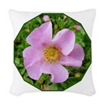 California Wild Rose Woven Throw Pillow