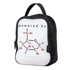 Powered By Glucose Neoprene Lunch Bag