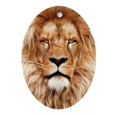Lion - The King Ornament (Oval)