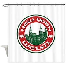 New York Welsh American Shower Curtain