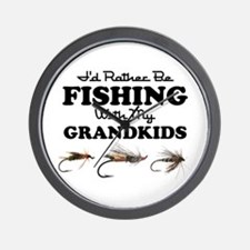 Rather Be Fishing Grandkids Wall Clock